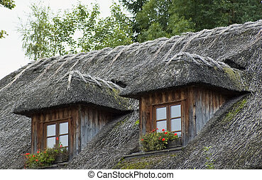 toit couvert chaume