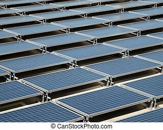 toit, panneau, solaire
