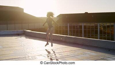 toit, pratiquer, danseur, ballet