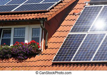 toit, solaire