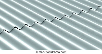 Amiante, toiture, ciment. Réparation, amiante, mauvais, ciment, très, état, toit, feuilles, couvert.