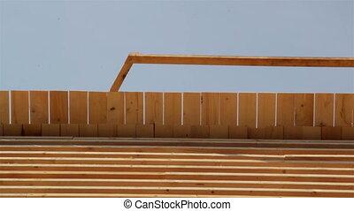 toiture, carpenty, bois, bardeaux toit, cèdre, roofworking