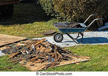 toiture, métier, gaspillage