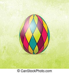 tojás, húsvét, kártya, színes