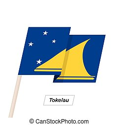 Tokelau Ribbon Waving Flag Isolated on White. Vector ...