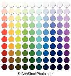 tokens, mostradores, colorido, plástico