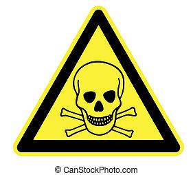 toksyczny, żółty, ostrzeżenie triangel