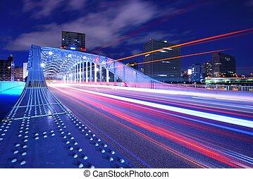 Tokyo Bridge - Eitai Bridge in Tokyo, Japan.