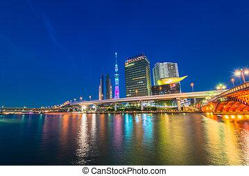 Tokyo city and Tokyo skytree