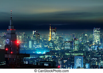 Tokyo city in the night