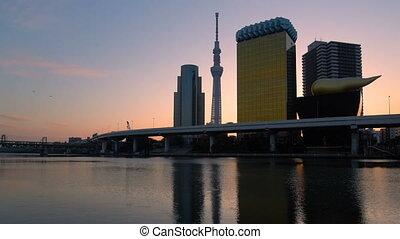 Tokyo City Skyline at Sunrise. - Sunrise at Tokyo city ...