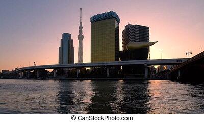 Tokyo City Skyline at Sunrise.
