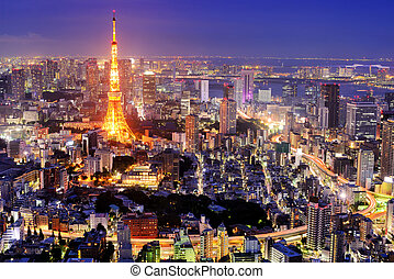 Tokyo Cityscape - Tokyo Tower in Tokyo, Japan.