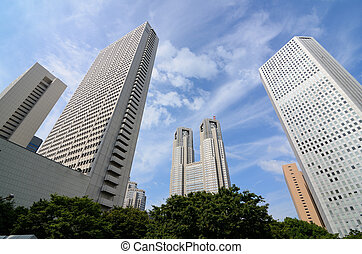 Tokyo Government Buildings - Cityscape of government...