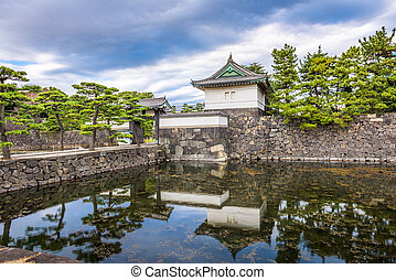 Tokyo Imperial Palace Moat - Tokyo, Japan at the Imperial...