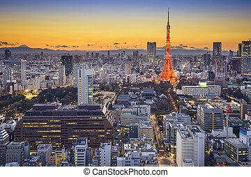 Tokyo Japan at Minato - Tokyo, Japan skyline in Minato Ward.