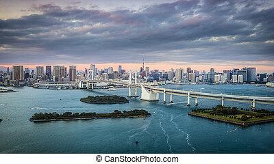 Tokyo, Japan at Tokyo Bay.