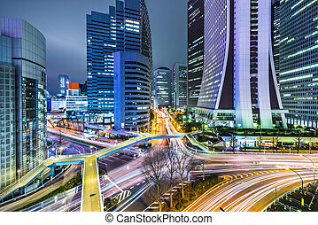 Tokyo, Japan office buildings in Shinjuku.