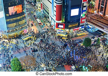 Tokyo, Japan Intersection - Shibuya Crossing in Tokyo, Japan