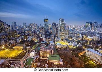 Tokyo, Japan Minato Ward Cityscape - Tokyo, Japan cityscape...
