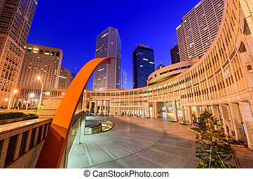 Tokyo Metropolitan Government Buildings - Tokyo, Japan...
