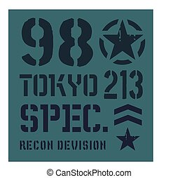 Tokyo military plate design