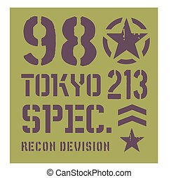 Tokyo military plate design