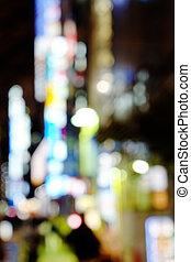 tokyo, rue, nuit