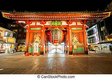 Tokyo Sensoji temple - asakusa Sensoji temple in Tokyo Japan