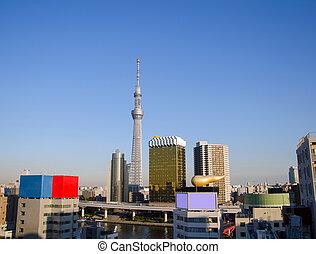 Tokyo Sky tree in Asakusa, Tokyo, Japan. - Tokyo Sky tree...