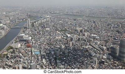 Tokyo skyline and Sumida River