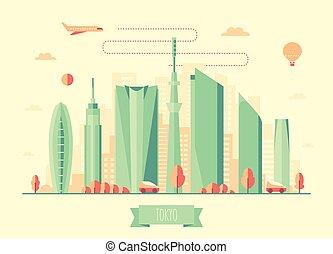 Tokyo skyline architecture vector design