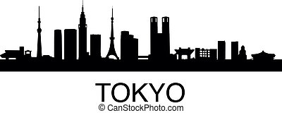 detailed vector illustration of Tokyo, Japan