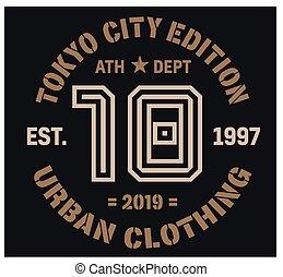 Tokyo sport t-shirt design