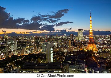 Tokyo Tower dusk