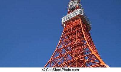 Tokyo Tower, Japan. Stabilized tilt up shot.