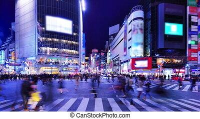 Tokyo Traffic - Traffic at Shibuya Crossing in Tokyo, Japan.