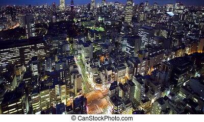 tokyo turm, und, skyline