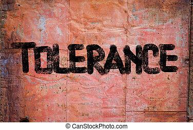 tolérance, concept
