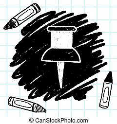 tol, szórakozottan firkálgat, rajz tekebábu