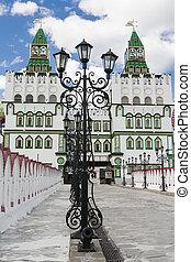 Tolba Lantern in front of the Izmailovo Kremlin. Moscow....