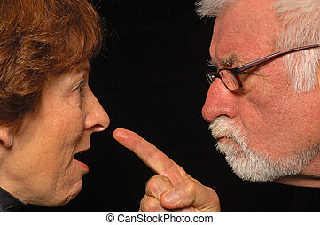 Told you so - MAn and woman fight and point blame