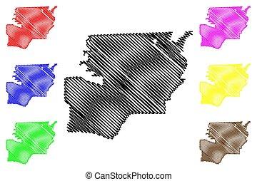 Toledo City map vector - Toledo City (United States cities,...