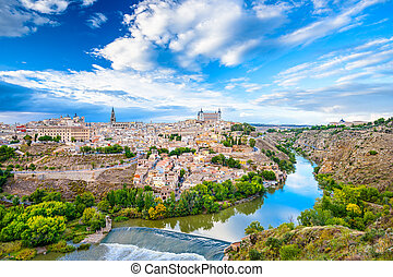 Toledo, Spain Old City Skyline