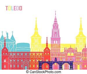 Toledo V2 skyline pop in editable vector file