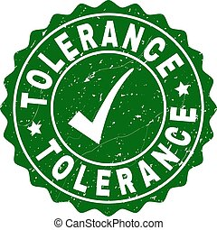 Tolerance Scratched Stamp with Tick