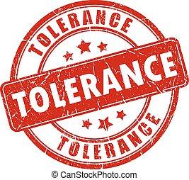 Tolerance stamp on white background