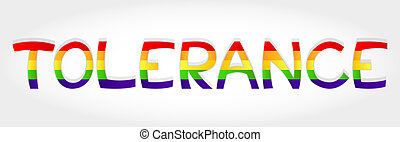 Tolerance word - Tolerance stylized word with rainbow