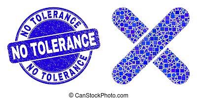 tolerantie, mozaïek, x-cross, nee, blauwe , zeehondje, ...