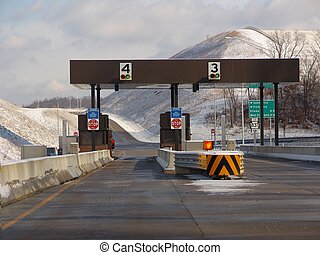Toll Booth - toll booth, snow